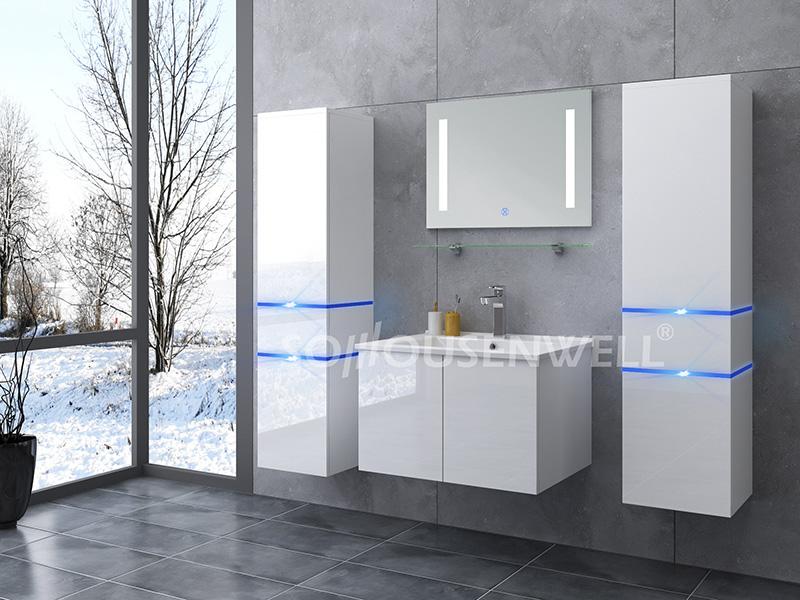 HS-E1904 Weißer hölzerner MDF-Badezimmerschrank moderner Badezimmerschrank