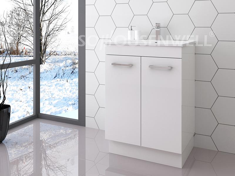 Bag-600 Badezimmerschrank moderne weiße Holz Badezimmereitelkeit Luxus mit Schubladen