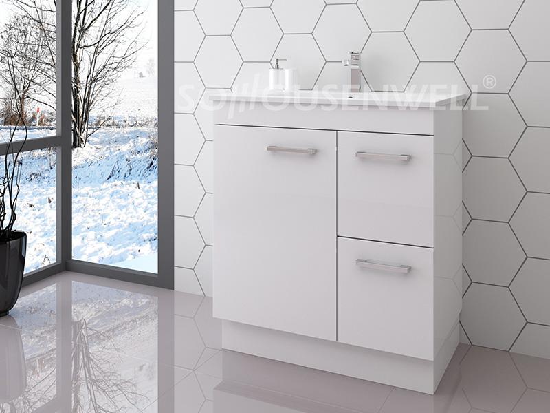 Bag-750 Badezimmerschrank moderne weiße Holz Badezimmereitelkeit Luxus mit Schubladen