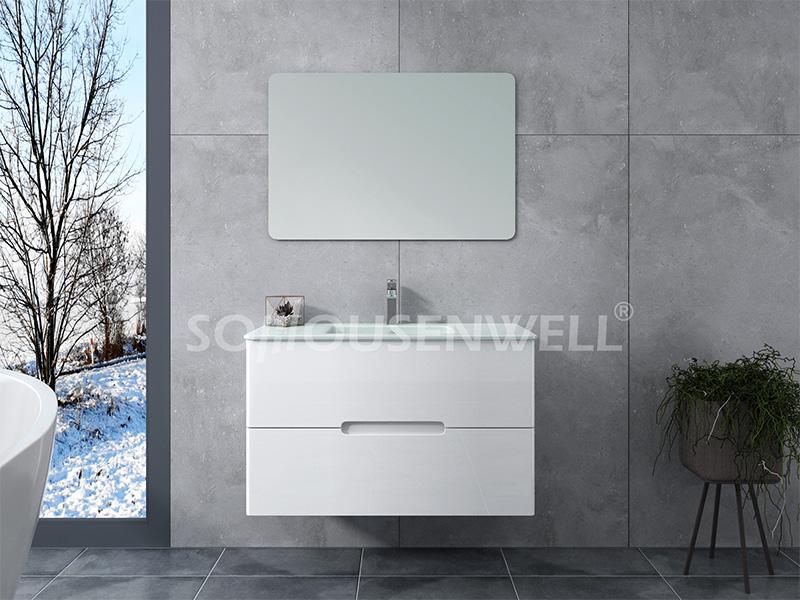 Cla-900 Großhandel billig neues Design Luxus Badezimmerschrank Badezimmereitelkeit mit Spiegel
