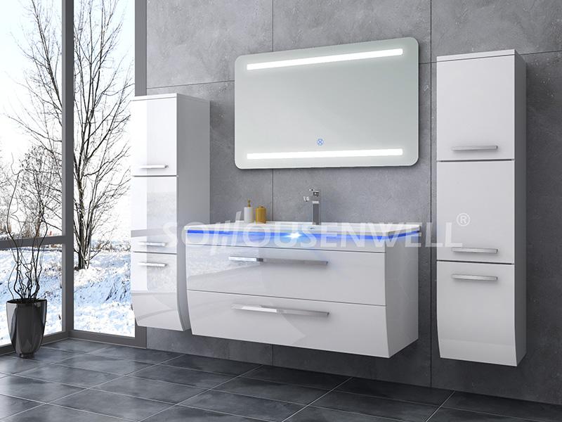 HS-E1909 Badezimmerschrank Waschtisch Licht Bad Waschtisch kleine Toiletten Möbel
