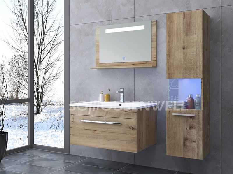 HS-E1910 Wasserdichter Badezimmerschrank LED-Badezimmerschrank-Möbelset