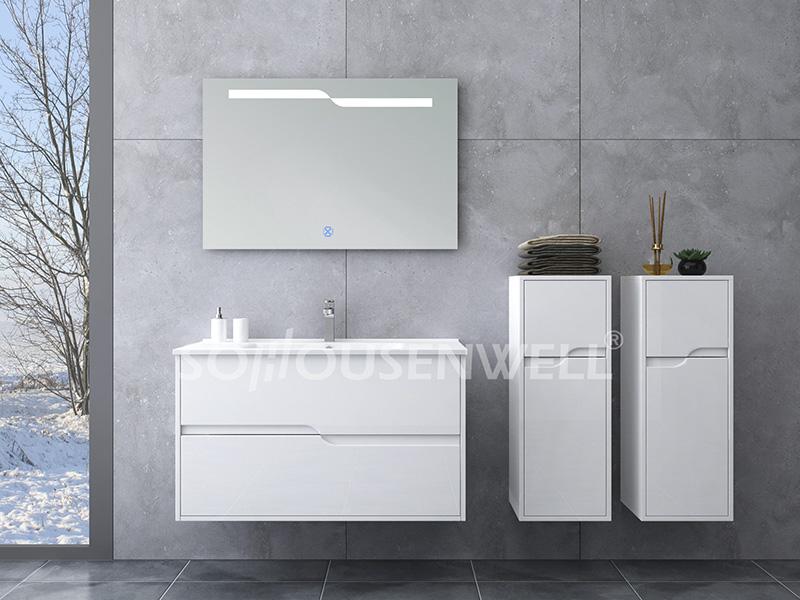 HS-E1914 Moderner Badezimmerschrank Badezimmer Make-up Waschtisch Waschbecken Schrank Set