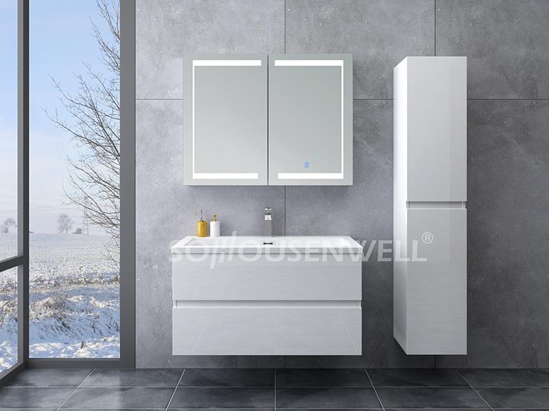 HS-E1915 Housen Badezimmerwaschbecken Schrank kupferfreier Wandspiegel