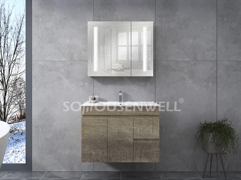 HS-E1927 Heißer Verkauf Badezimmerschrank Marmorplatte europäischen Badezimmereitelkeit
