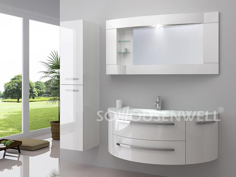 HS-E1928 Wohnmöbel Badmöbel mit LED-Spiegel PVC Badschrank