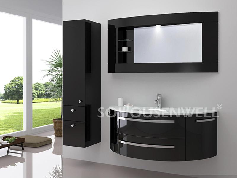 HS-E1929 Hot Sale Badmöbel Luxus PVC Badschrank mit Waschbecken