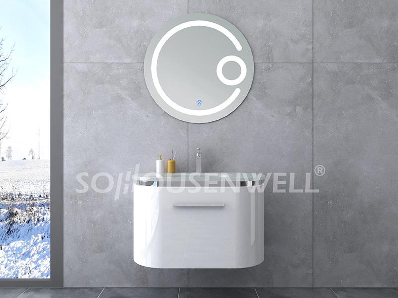HS-E1932 Modedesign klassischer Hotelbadezimmerschrank Bad PVC Waschtisch