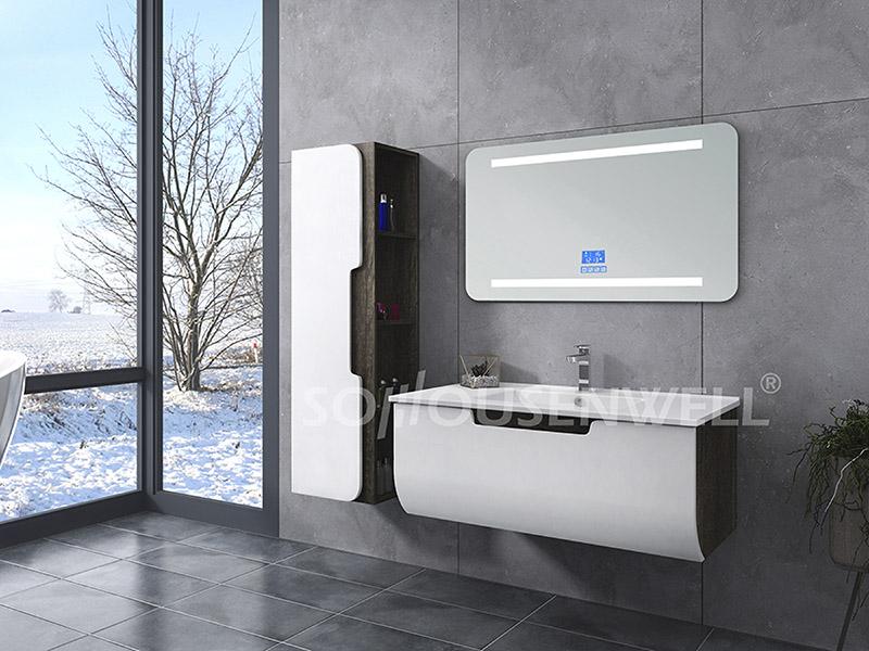 HS-E1935 Wand-Waschtischspiegel aus PVC-Bad mit Eckleuchten