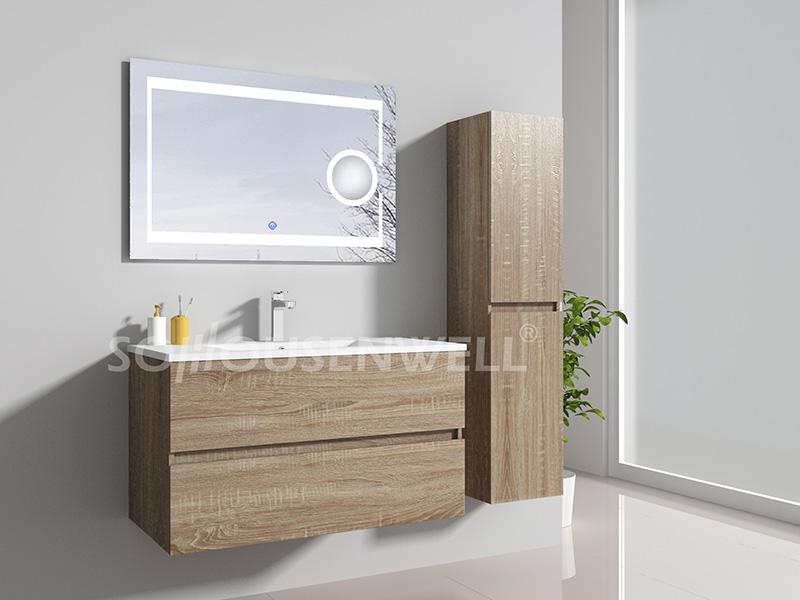 HE-E1944 Möbel Hotel Bad Eitelkeit fertig montierten Badezimmerschrank