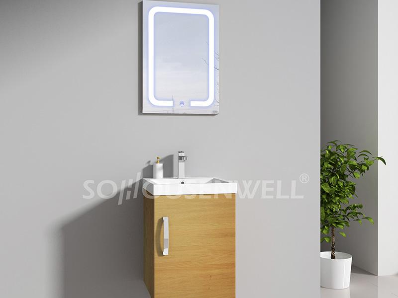 HS-E1945 Hot Sale MDF Badezimmerschrank mit Waschbecken und Spiegel