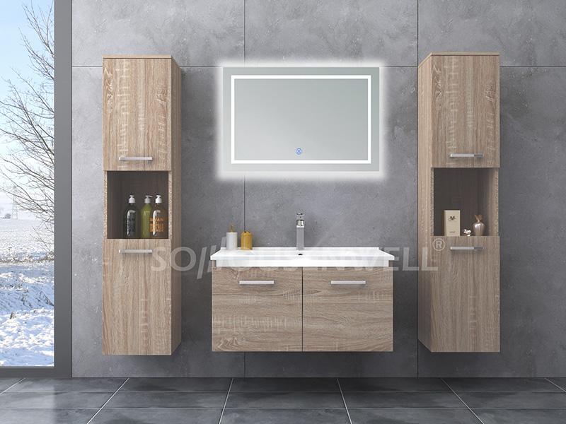 HS-E1947 Moderner Badezimmerspiegelschrank im neuen Design mit Waschbecken