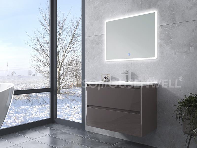 HS-E1958 Hot Sale Badezimmereitelkeit mit Keramik Waschbecken Badezimmerschrank