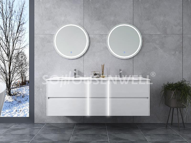HS-E1962 Neuer Design Hotel Badezimmerschrank mit Doppelwaschbecken