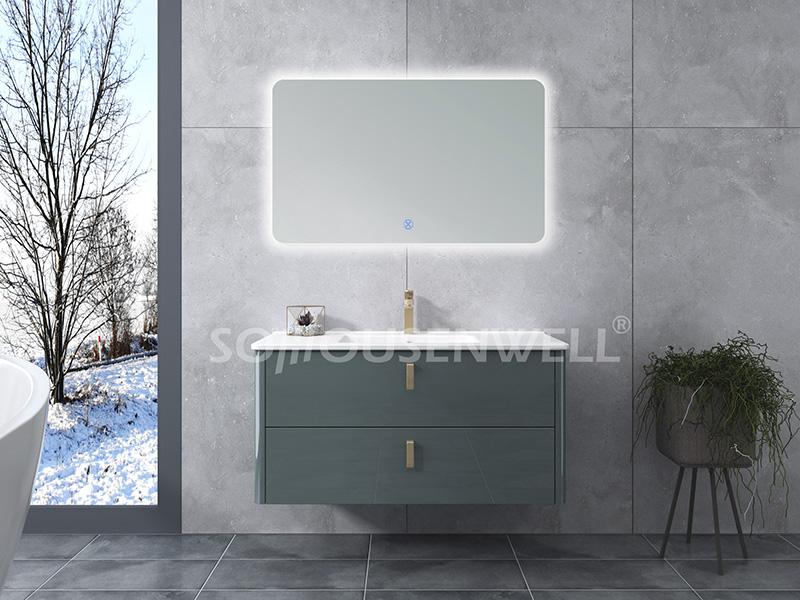 HS-E1963 Großhandel neue Produkte Badezimmereitelkeit mit Spiegelschrank