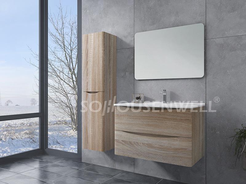 HS-E1972 Badezimmer Wandschränke Spiegel Holz Bad Eitelkeit