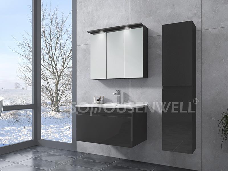 HS-E1973 LED WC Waschtisch Badezimmerspiegel Schrank Waschtisch Wandbehang kupferfreier Spiegel