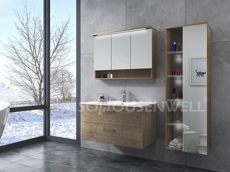 HS-E1975 Modedesign Badezimmereitelkeit klassischer Hotelbadezimmerschrank