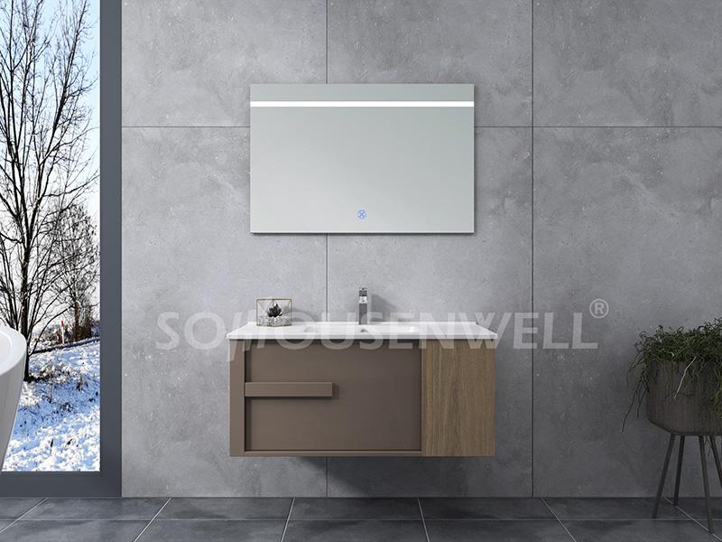HS-E1976 Kundenspezifisches Design Badezimmerschrank Hotel gewerbliche Badezimmereitelkeit