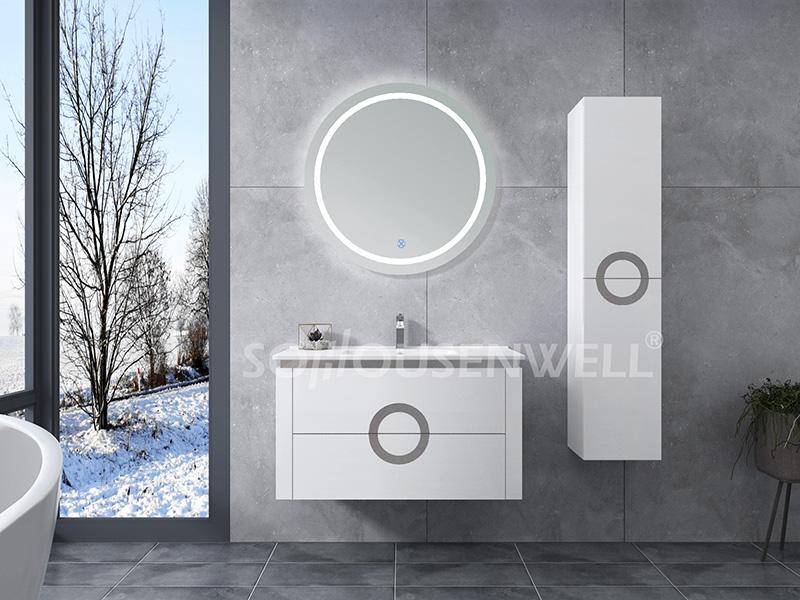 HS-E1978 Schrank Waschbecken Spiegelschrank Badezimmer Toiletten Wand hängende Badezimmereitelkeit