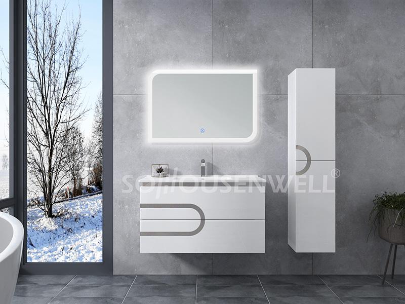 HS-E1979 Toilette Waschtisch Badmöbel Schrank Spiegel Bad Waschtisch LED-Licht