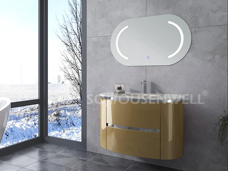 HS-E1980 Günstige neue Design Bad Schrank Bad Eitelkeit LED Kunststoff