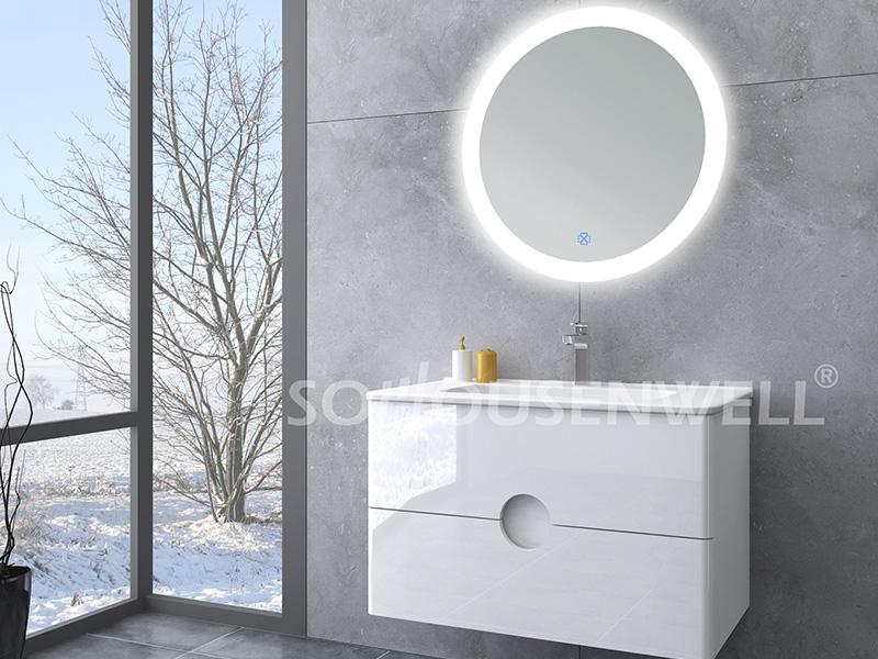 HS-E1985 Modernes Badezimmer beleuchteter Spiegelschrank Badezimmerschrank an der Wand montiert