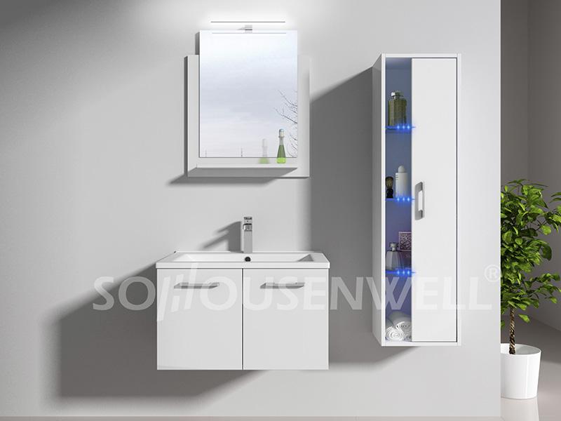 HS-E1987 Europäischer Luxus-Badezimmerspiegel mit Badezimmerschrank