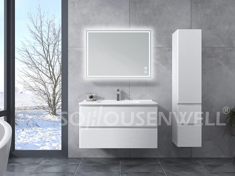 HS-E1989 Neue Design-Badezimmerschränke Luxus-Badezimmerschrank mit Waschbecken