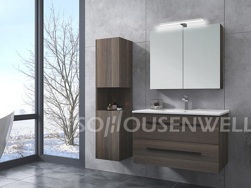 HS-E1990 Badezimmereitelkeit im europäischen Stil Hotelbadezimmermöbel Badezimmerspiegelschrank