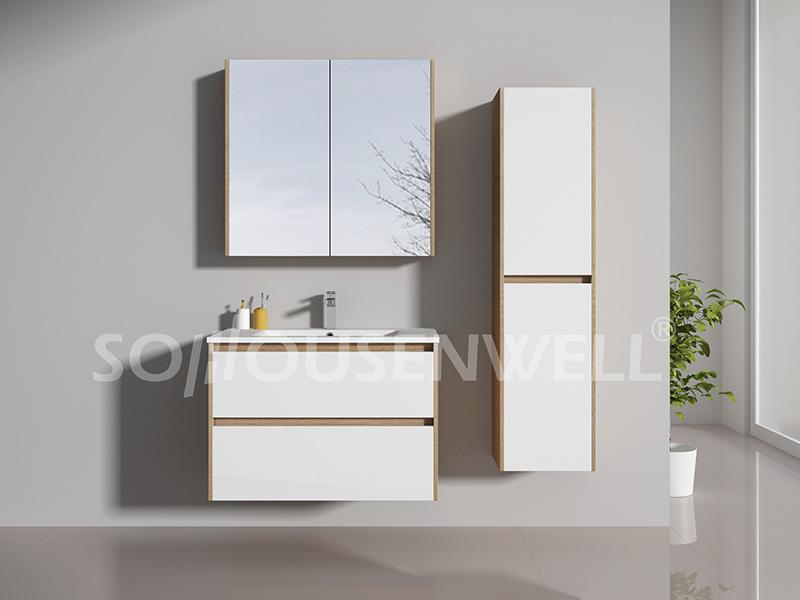 HS-E1991 Badezimmerschrank Badezimmermöbel Badezimmereitelkeit mit Spiegel