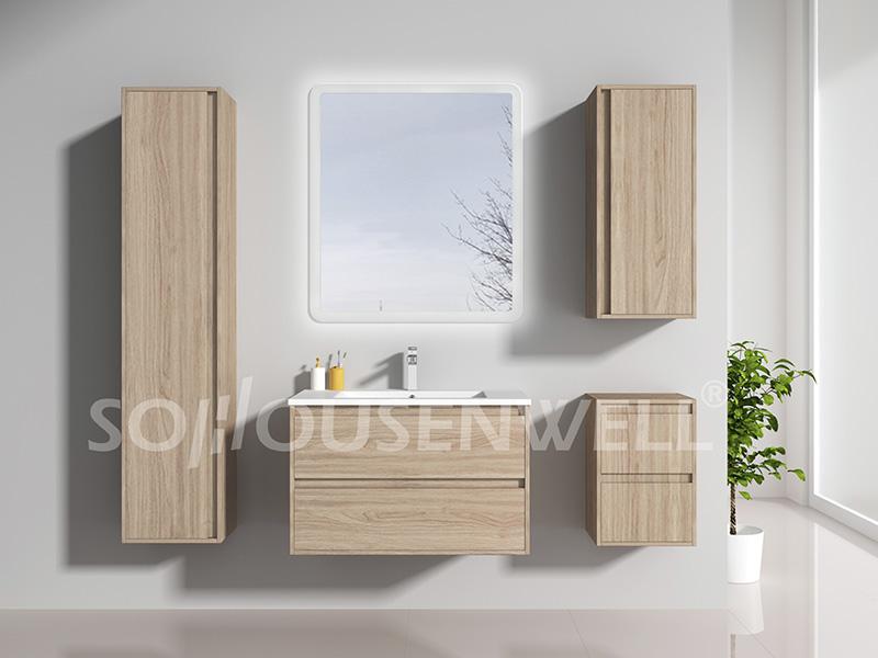 HS-E1993 Formica Badezimmereitelkeit mit Schubladen Eckschrank für Toiletten