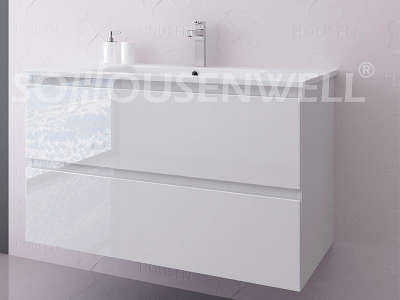 Ewa-1200 Großhandel neues Design modernen Holz Badezimmerschrank fertige Badezimmereitelkeit