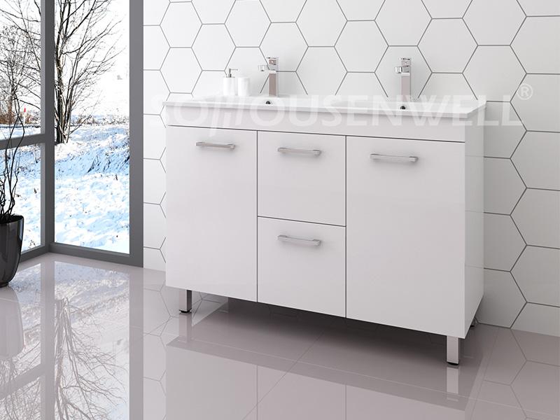 Ema-1200D WC-Aufbewahrung Luxus-Badezimmereitelkeit mit Waschbecken moderner Badezimmerschrank