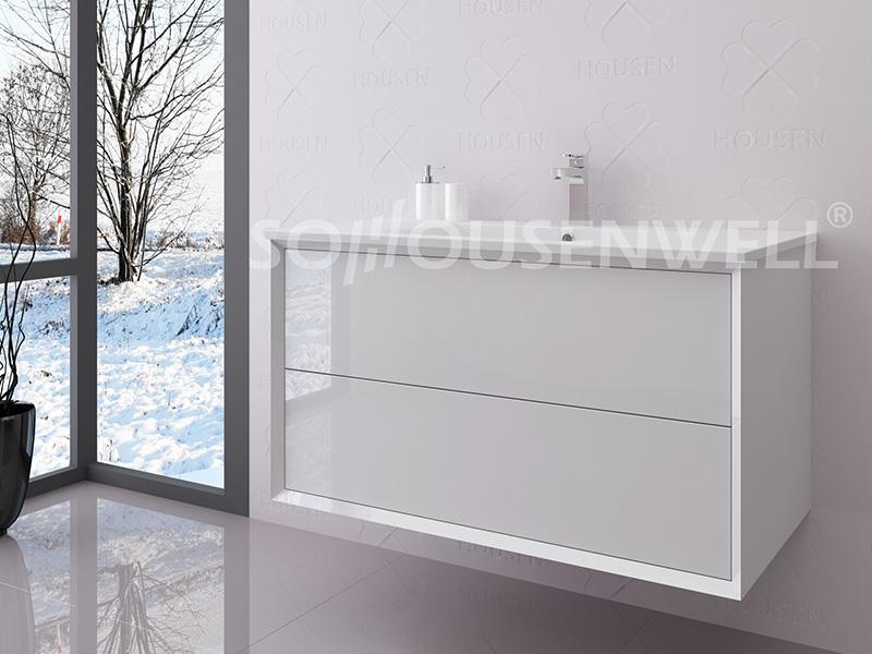 Lud-600 Beliebtester Badezimmerschrank aus Holz mit Waschbecken