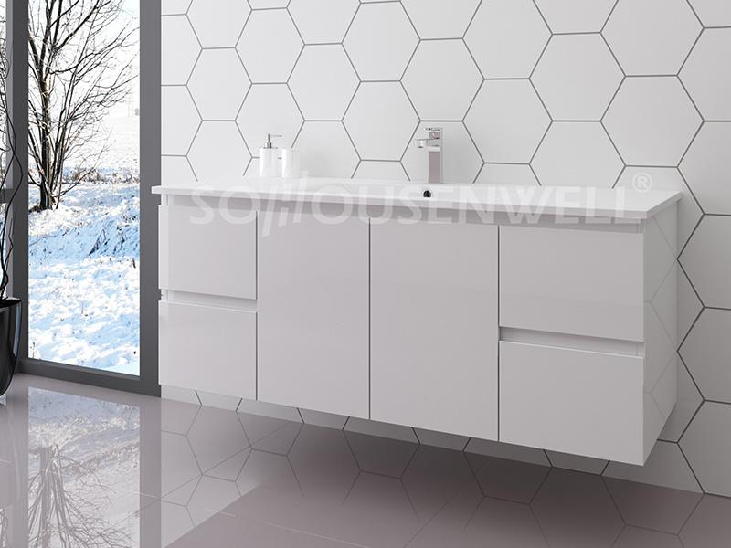 Lux-1200 Moderne Badezimmereitelkeit hängende Badezimmerschränke
