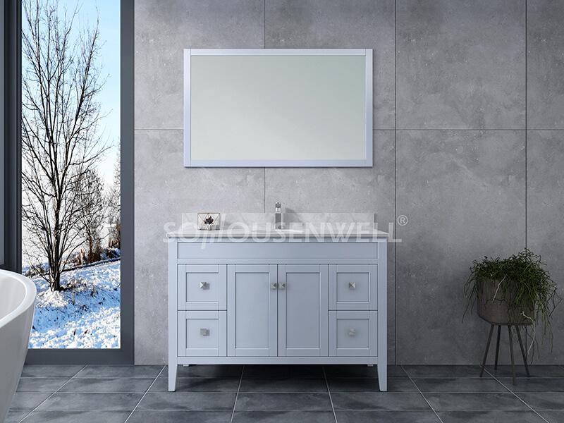 Sam-1200 SS Badezimmerschrank Massivholz Eitelkeit Badezimmer Eitelkeit Toiletten Möbel