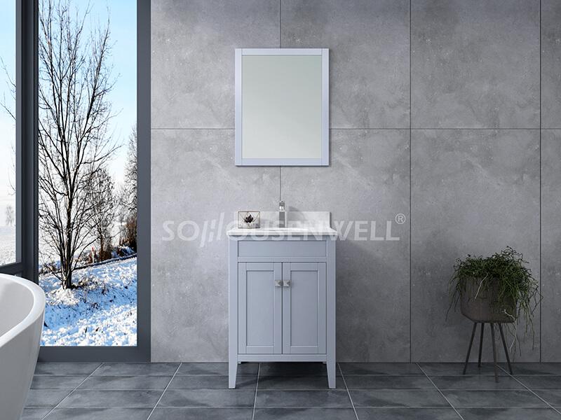 Sam-600S Badezimmerschrank Massivholz Eitelkeit Badezimmer Eitelkeit Toiletten Möbel