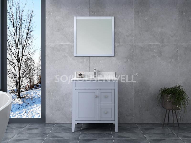 Sam-750S Badezimmerschrank Massivholz Eitelkeit Badezimmer Eitelkeit Toiletten Möbel