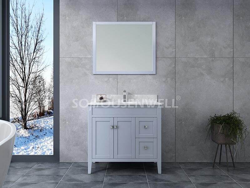 Sam-900S Badezimmerschrank Massivholz Eitelkeit Badezimmer Eitelkeit Toiletten Möbel