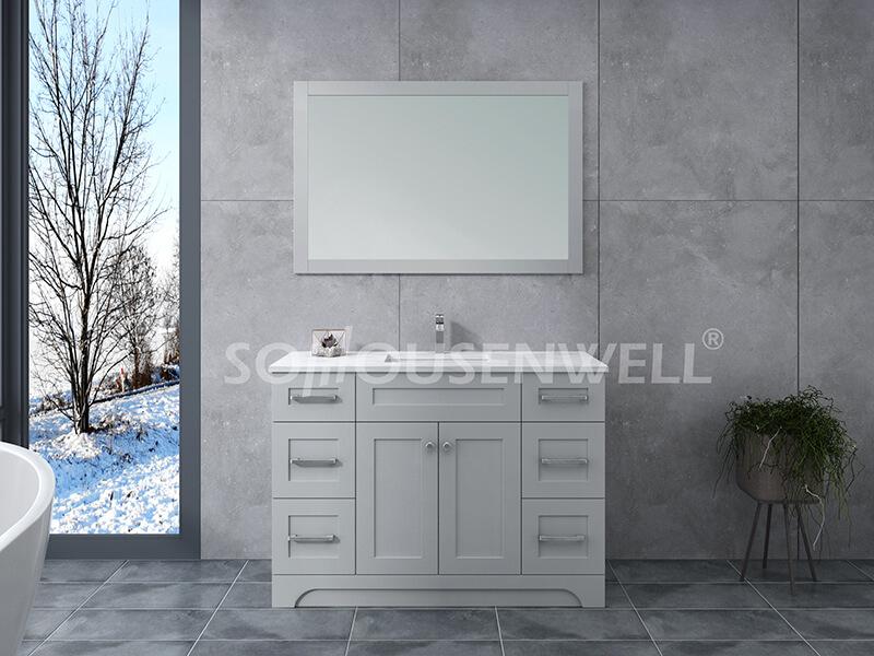 Y21-1200 Moderner stehender Massivholz-Badezimmerschrank für Toiletten