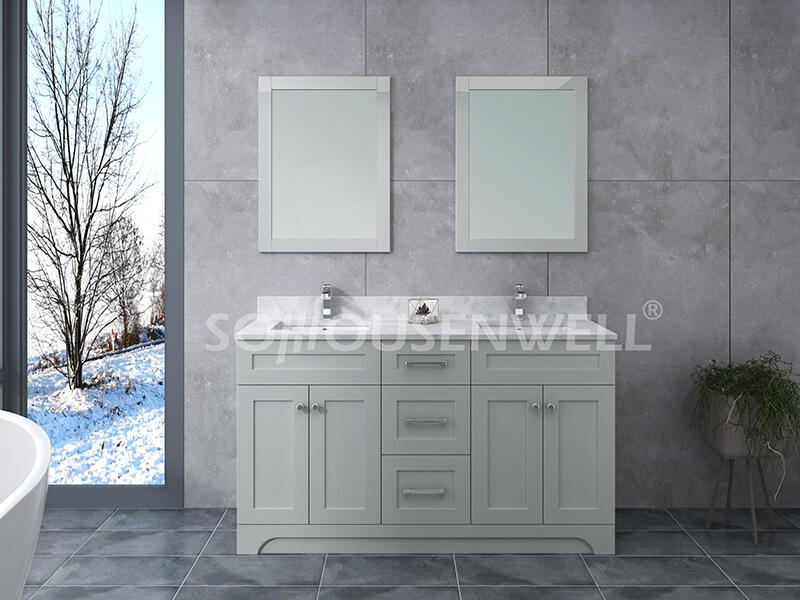Y21-1500 Moderner stehender Massivholz-Badezimmerschrank für Toiletten
