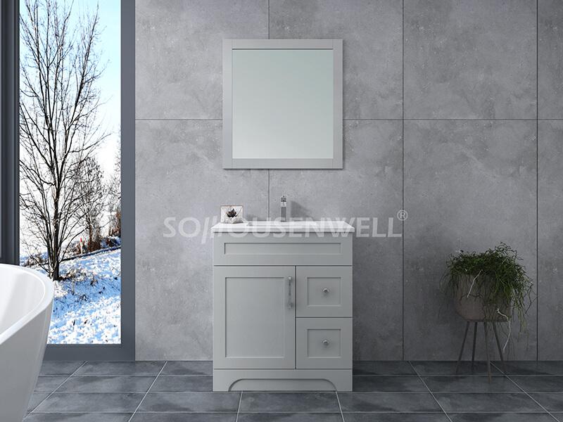 Y21-750 Moderner stehender Badezimmerschrank aus Massivholz für Toiletten