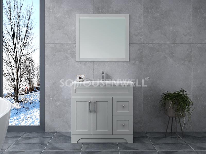 Y21-900 Moderner stehender Badezimmerschrank aus Massivholz für Toiletten